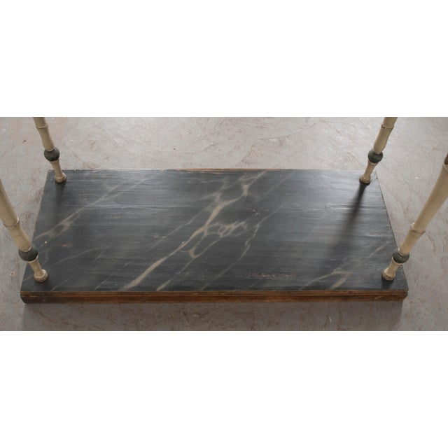 Swedish 19th Century Carved and Painted Console For Sale - Image 10 of 12