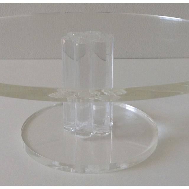 Vintage Lucite Round Footed Cake Stand - Image 3 of 5