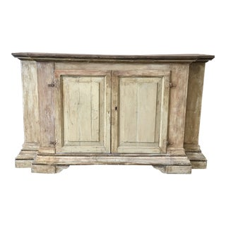18th C. Italian Tuscan Painted Console Credenza Buffet