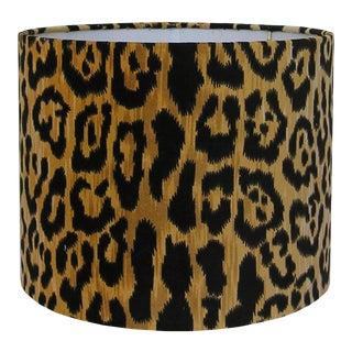Velvet Animal Print Lamp Shade, Large For Sale
