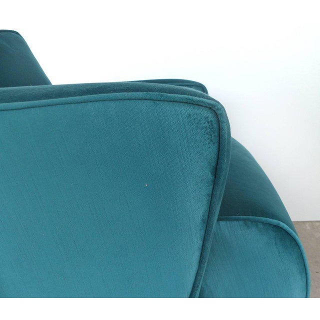 Textile Thayer Coggin Club Chairs in Velvet - A Pair For Sale - Image 7 of 10