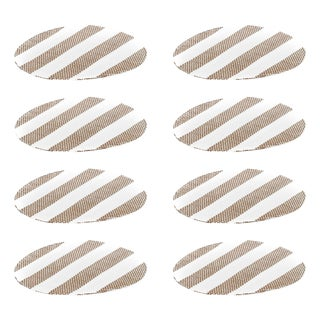 Tan Big Stripe Placemats - Set of 8 For Sale