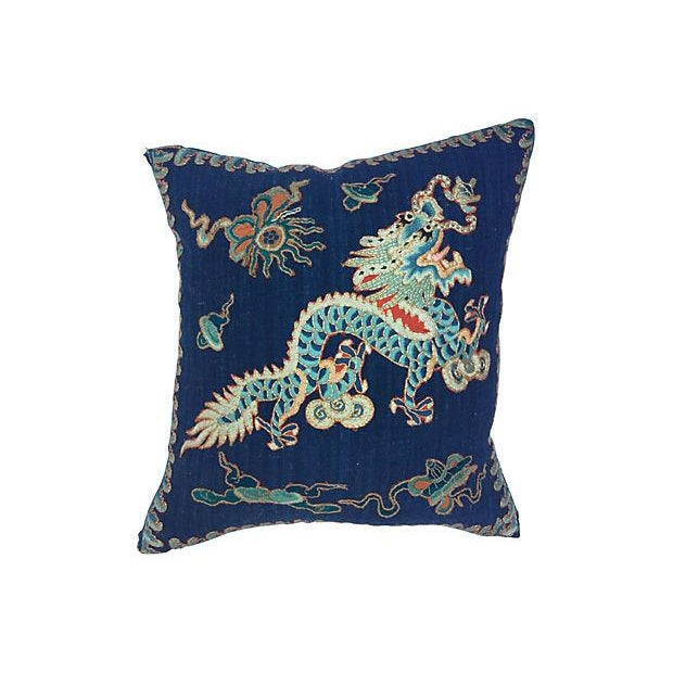 Emperor's Opera Robe Dragon Pillow - Image 1 of 6