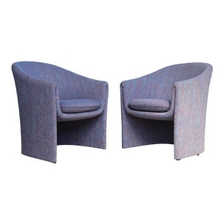 Vintage Vladimir Kagan for Preview Biomorphic Freeform Armchairs - a Pair For Sale