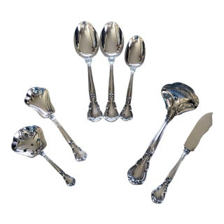 Gorham Chantilly Sterling Silver Flatware - 7 Serving Pieces