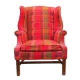 Image of Vintage Mid-Century Flexsteel Georgian Style Wingback Chair For Sale