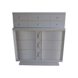Mid-Century Freshly Painted Dresser For Sale