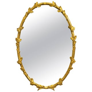 Giltwood Floral Wall Mirror by Friedman Brothers For Sale