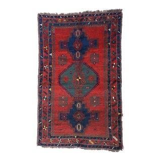 """Antique Caucasian Kazak Rug 4'7"""" x 7'2"""" For Sale"""