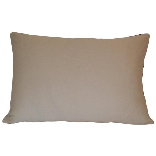 Custom Silk Velvet Ikat Accent Pillow - Image 2 of 2