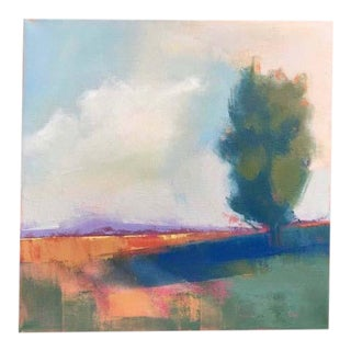 "Abstract Landscape Oil Painting, ""Long Shadow"" by Carrie Megan For Sale"