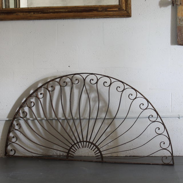 French French Iron Wall Trellis For Sale - Image 3 of 3