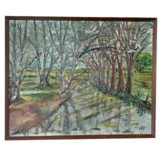 Danish Mid-Century Forest Painting