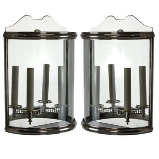Pair of Silver Wall Lanterns