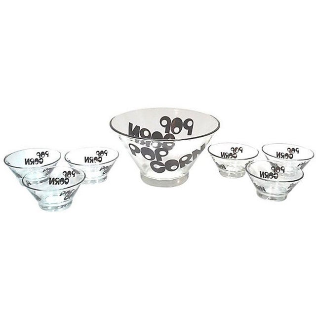 Mid-Century Modern Mid-Century Glass Popcorn Bowls - Set of 9 For Sale - Image 3 of 4