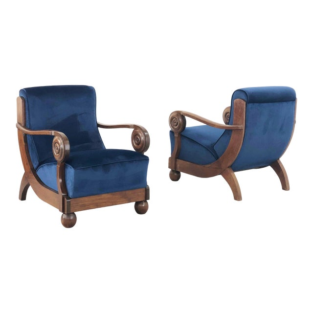 Maxime OLd Exceptional French Art Deco Armchairs For Sale