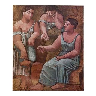 Picasso Trois Femmes à La Fontaine, 1971 Parisian Photogravure