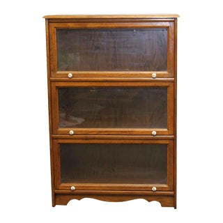 Oak Three Shelve Bookcase For Sale