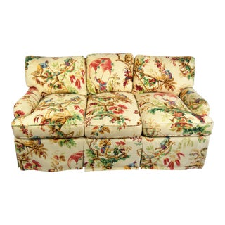 Chinoiserie Toile Down Sofa For Sale