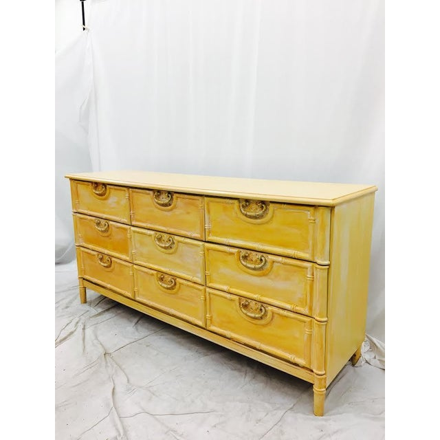 Vintage Bamboo Dresser by Bassett For Sale - Image 9 of 9