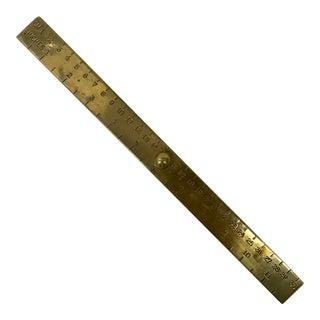 Brass Ruler Desk Paperweight