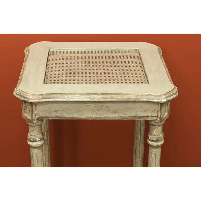 French Painted Tiered Side Table or Plant Stand - Image 3 of 5