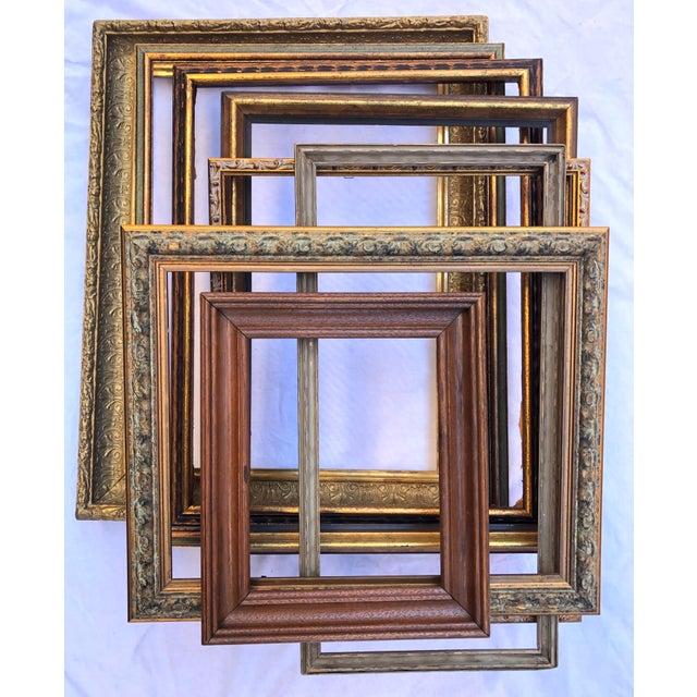 Vintage Boho Chic Wood Frames - Set of 8 For Sale - Image 13 of 13