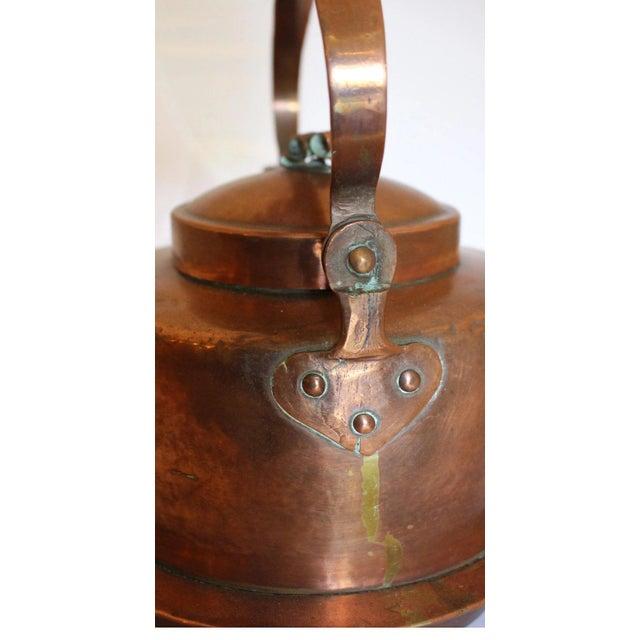 Metal Large Copper Tea Kettle For Sale - Image 7 of 9