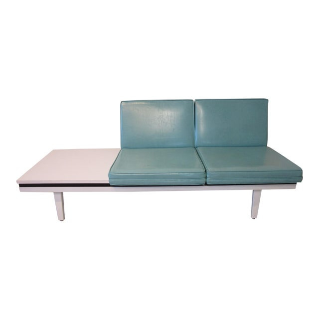 George Nelson Steelframe Two Place Sofa With Side Table by Herman Miller For Sale