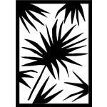 "Medium ""Palm Two"" Print by Kate Roebuck, 18"" X 25"""