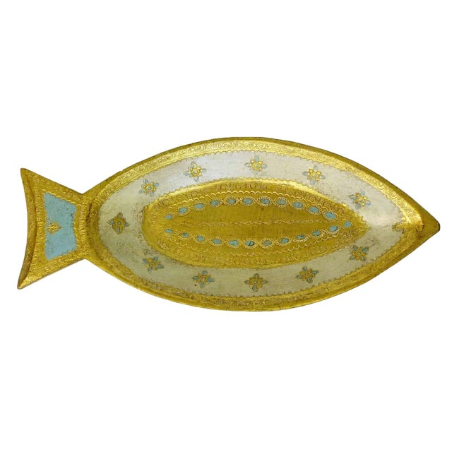 Florentine Gilt Wood Fish Tray - Image 1 of 7