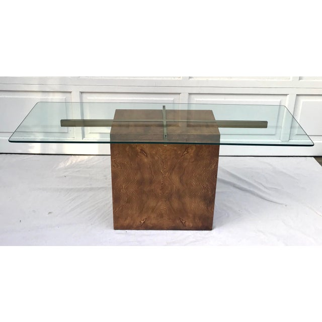 Vintage Lane Burl Wood Console Table For Sale - Image 9 of 12