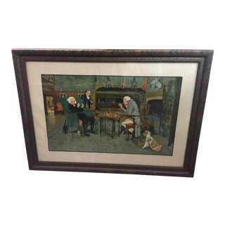 "Cecil Aldin Lithograph ""Mated"" Chess Players For Sale"
