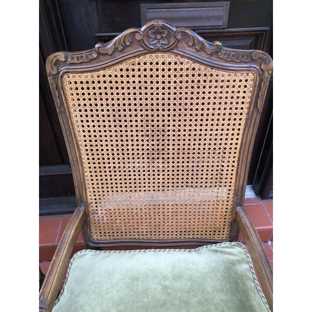 1920s French Caned Chairs - a Pair For Sale - Image 5 of 12