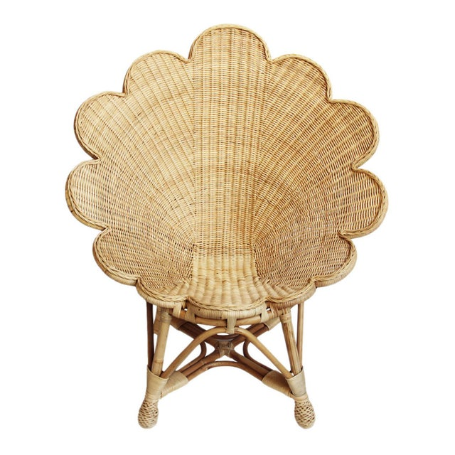 Rattan Natural Shell Chair For Sale In Los Angeles - Image 6 of 6