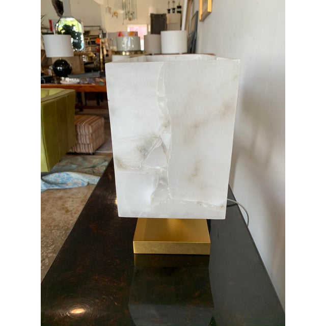 Stone Jamie Young Alabaster Ghost Horizon Lamp For Sale - Image 7 of 8