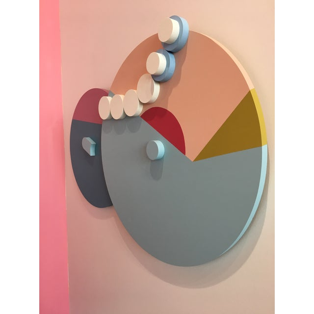Abstract Angela Chrusciaki Blehm Peek-A-Boob Pink Wall Sculpture For Sale - Image 3 of 4