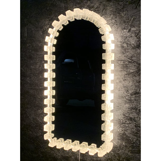 Illuminated Acrylic Resin Mirror For Sale In Los Angeles - Image 6 of 12