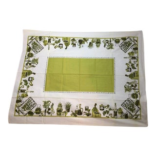 Retro Cotton Cooking Tablecloth For Sale