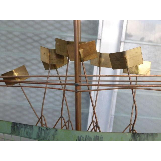 Brutalist Large 1970's Curtis Jere Brass and Copper Cafe Wall Sculpture For Sale - Image 3 of 6