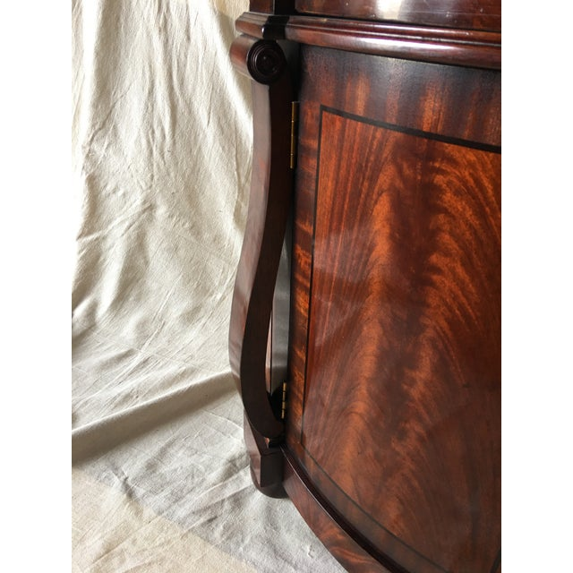 1990s Henredon Natchez Demilune Console With Marble Top For Sale - Image 5 of 11
