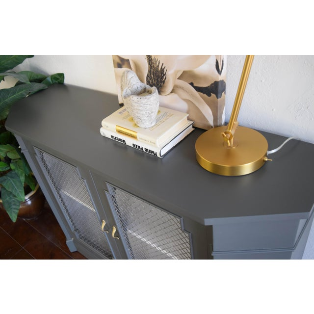 Late 19th Century 19th Century Traditional Gray and White Console Table For Sale - Image 5 of 9
