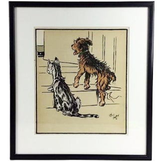 Dog & Cat Lithograph by Cecil Aldin, 1914 - Image 1 of 2