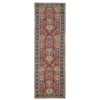 Vintage Persian Tabriz Rug - 3'2''x14'2'' For Sale