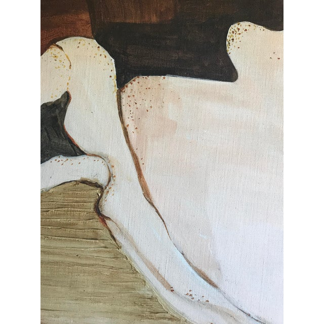 Mid-Century Abstract Expressionist Painting For Sale - Image 4 of 6
