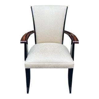 Nancy Corzine Ruhlmann Style Art Deco Macassar Desk Chair For Sale