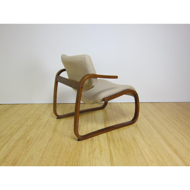 1970s Danish Modern Oddvin Rykken Cantilever Bentwood Lounge Chair For Sale In New York - Image 6 of 11