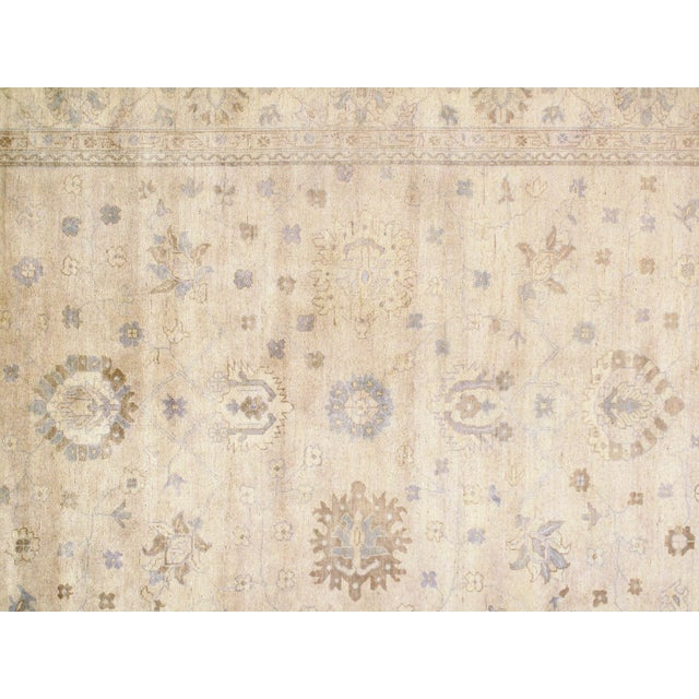 "Indian Oushak Hand-Knotted Rug - 8'9"" X 10'6"" For Sale - Image 4 of 5"