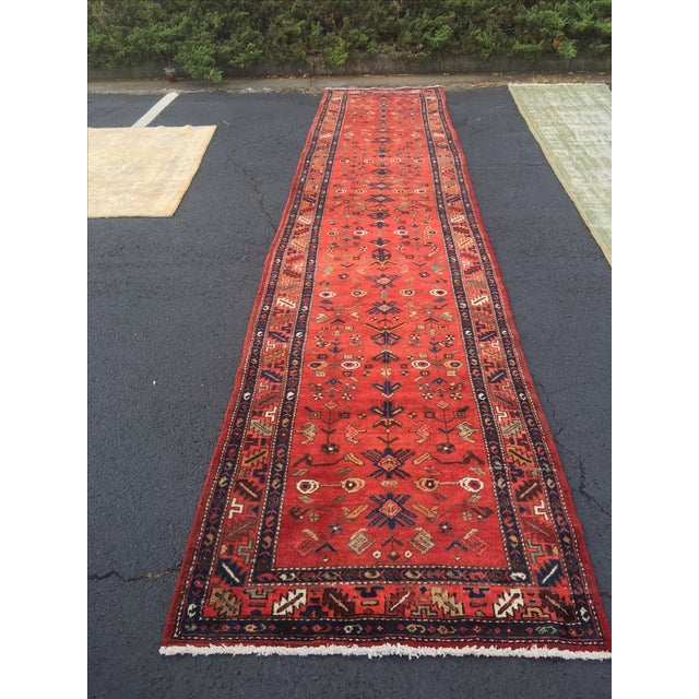 Persian Hosenibad Runner - 3′5″ × 15′10″ - Image 2 of 11
