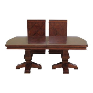 Traditional Ethan Allen Tuscany Collection Walnut Finish Dining Table For Sale